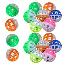 Balles de jeu colorées pour chat, 18x4cm, en plastique, avec clochette, saucière, jouet hochet, fournitures pour animaux de compagnie