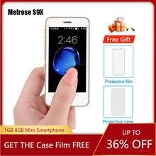 Melrose S9X Android 6,0 Ultra-dünne Mini Smartphone 2,5 Zoll 1G RAM 8GB ROM Quad Core Bluetooth kamera WiFi Mini Handys