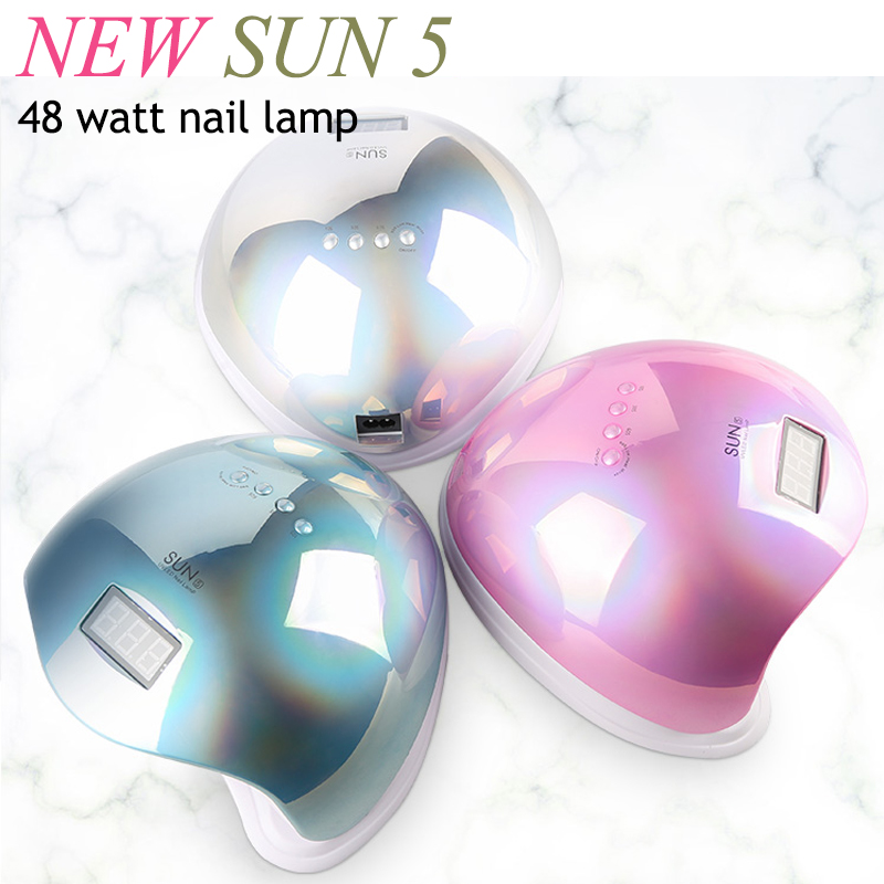 NEW Brand SUN 5 Lamp For Nails 48W UV Led Lamp Nail Ice Lamp Gel Polish Lamp For Manicure LCD Display UV Cabin Free Delivery