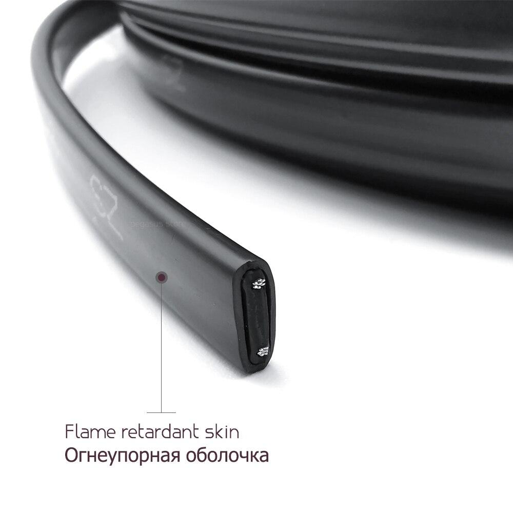 10-50 м 220 В огнестойкий тип нагревательный кабель W = 8 мм саморегулирующийся температура водопровод защита крыша deicing нагревательный кабель