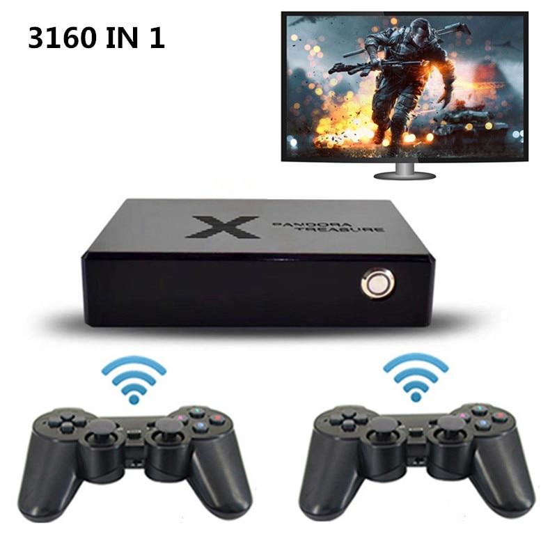 3160 in 1 Pandora Saga Box Wireless Gamepad Arcade free play Coin 3D games HD video Console TV games HDMI VGA(China)