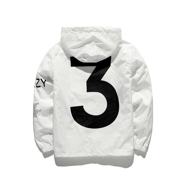 2021 Spring Kanye West Y3 Men's Windbreaker Jacket Outdoor Hooded Bomber Jacket Men Harajuku Hip Hop Streetwear Coats Outwear 2