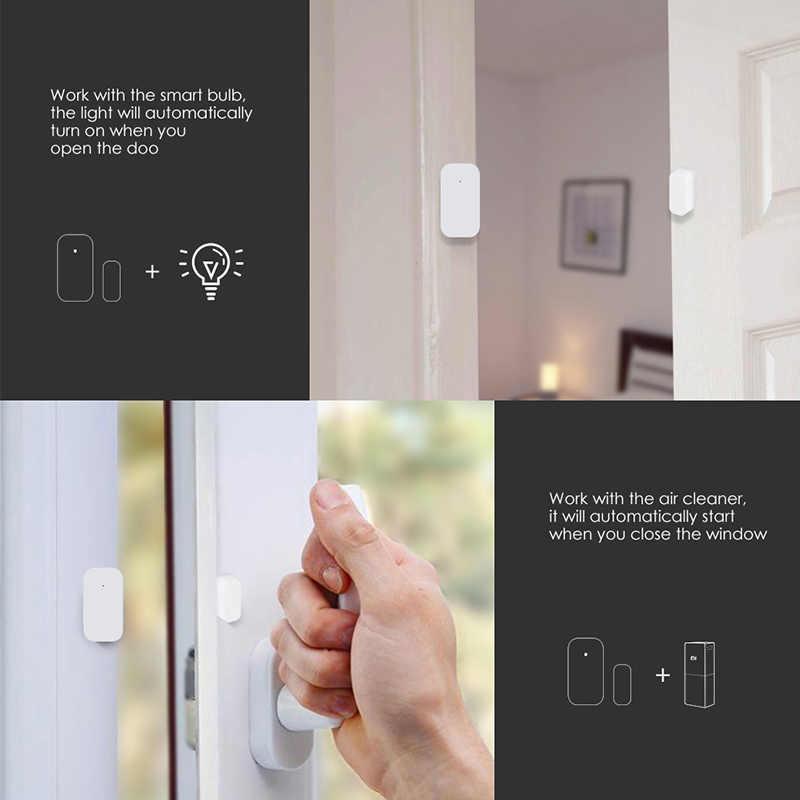 Aqara kapı pencere sensörü Zigbee kablosuz bağlantı akıllı Mini kapı sensörü ile çalışmak Mijia ağ geçidi MiHome Homekit akıllı ev kiti