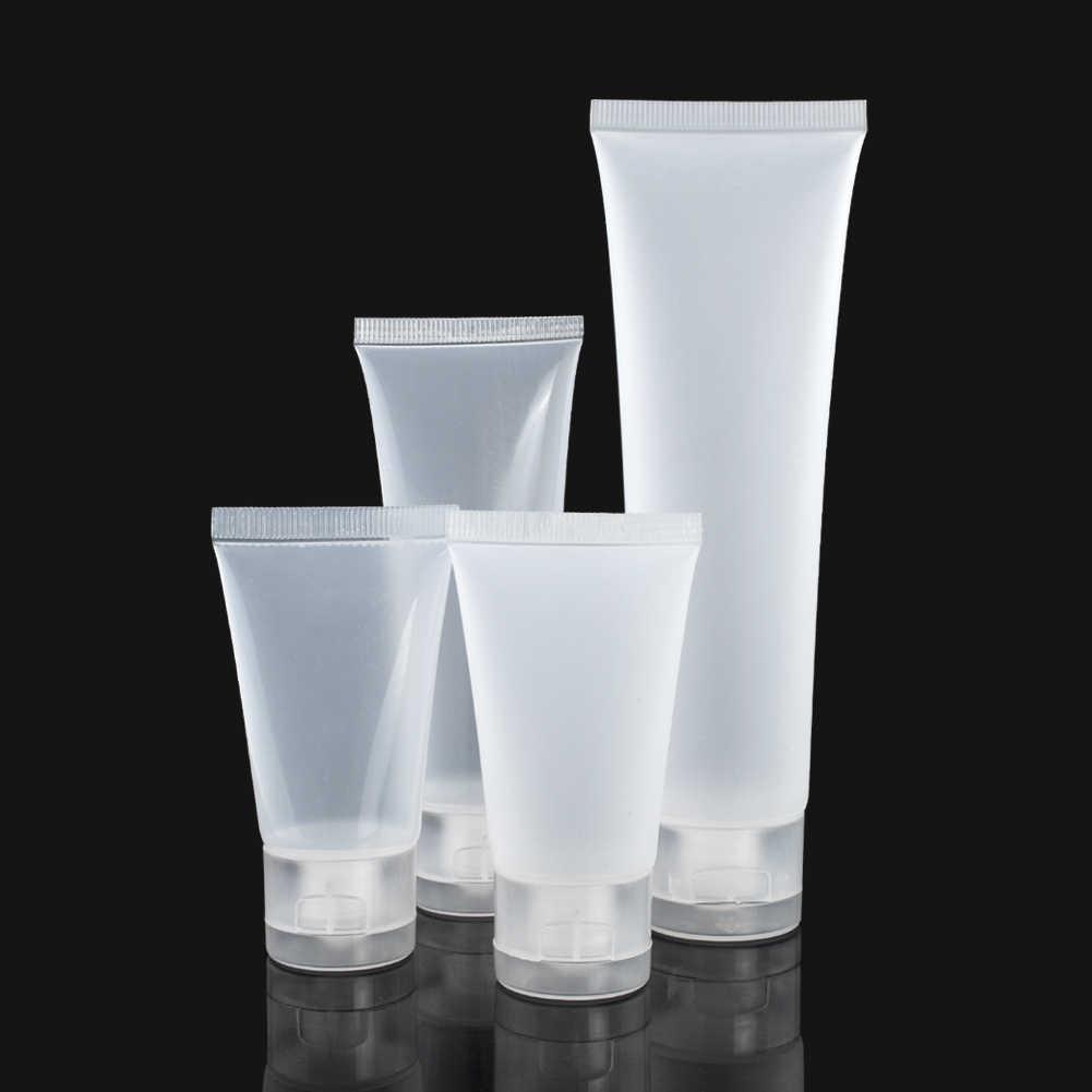 فارغة أنابيب السفر المحمولة ضغط حاويات التجميل كريم غسول الزجاجات البلاستيكية 20 مللي 30 مللي 50 مللي 100 مللي