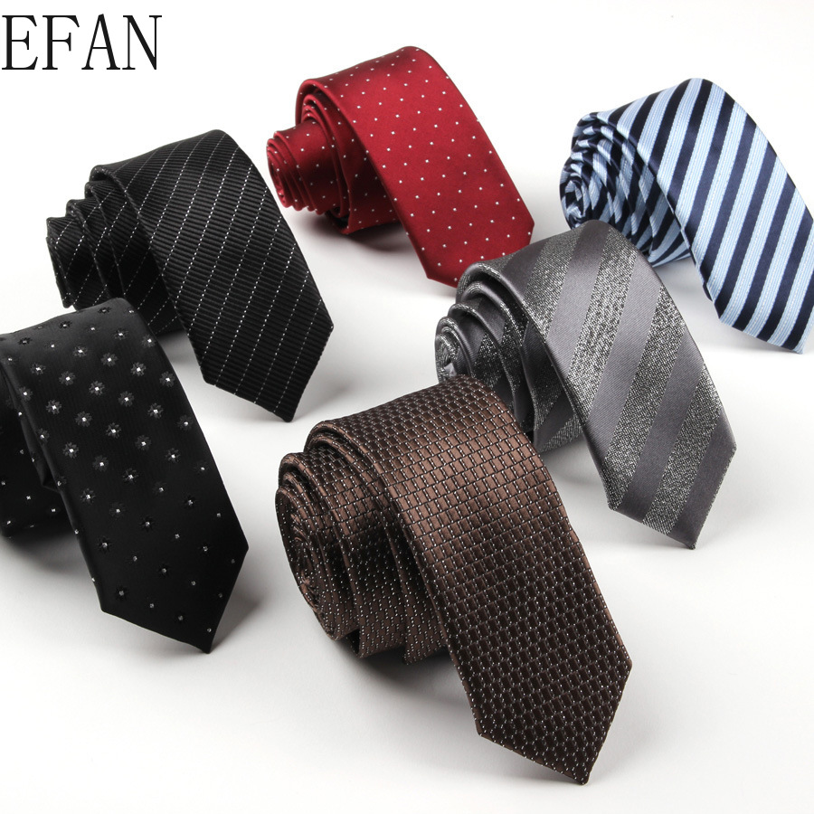 Men Personality Striped Dots Cartoon 5cm 6cm Black Solid Neck Tie Wedding Necktie Blue Formal Business Skinny Tie Slim Neckwear
