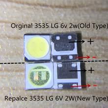 Para tv lcd reparação tv backlight strip 6v 3535 led lg innotek 6v 3535 luzes com 3535 smd led contas 6v 2w retroiluminação tv lcd 3535
