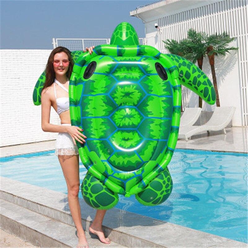 Tortue gonflable géante flottant rangée lit gonflable matelas d'air eau mer piscine plage Animal flotteur conseil monter adultes enfants