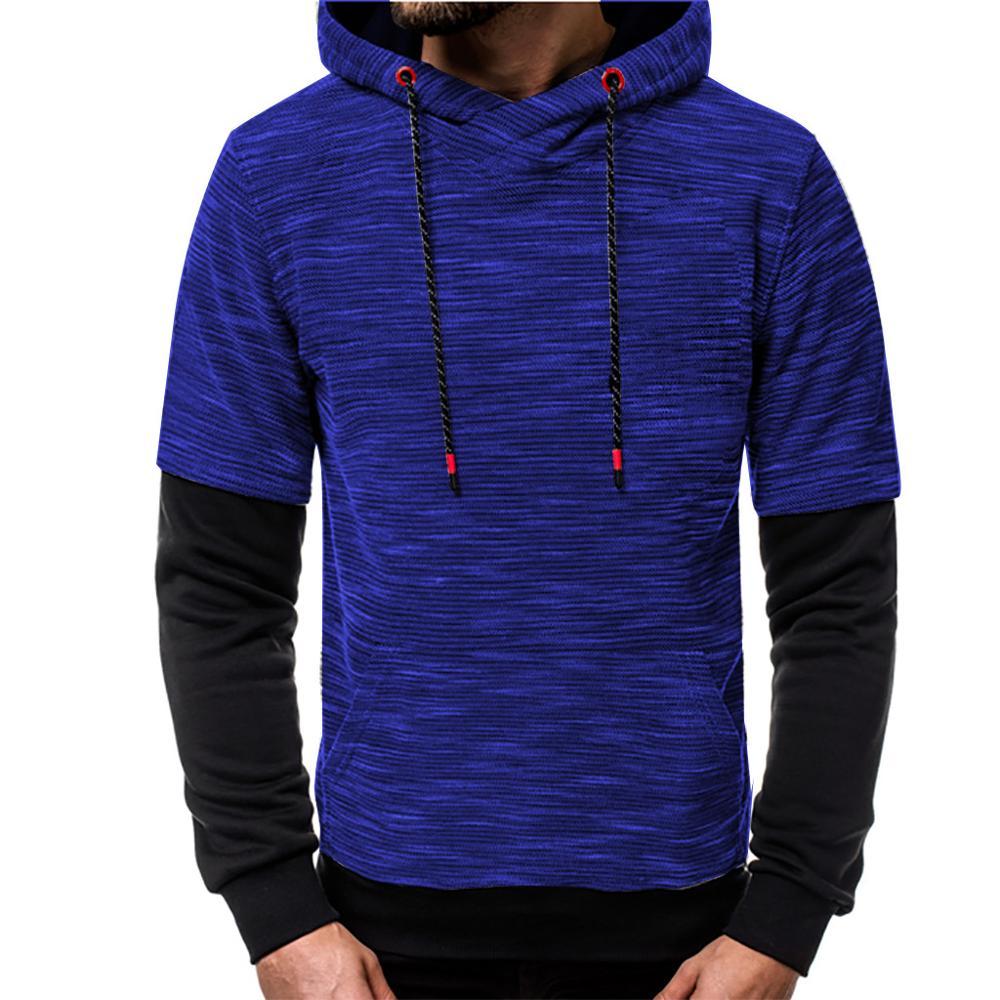 Ciyoon Mens Hoodie Winter Warm Fleece Zipper Sweater Jacket Outwear Coat Tops Blouses