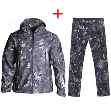 TAD Tactical Softshell Camouflage Suits Outdoors Army Sport Waterproof Hunting Shooting Clothes Military Jacket + Pants