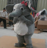 Halloween Elephant Mascots Costume Cartoon Animals Suit Colors Can Be Customized Outdoor Adults Size