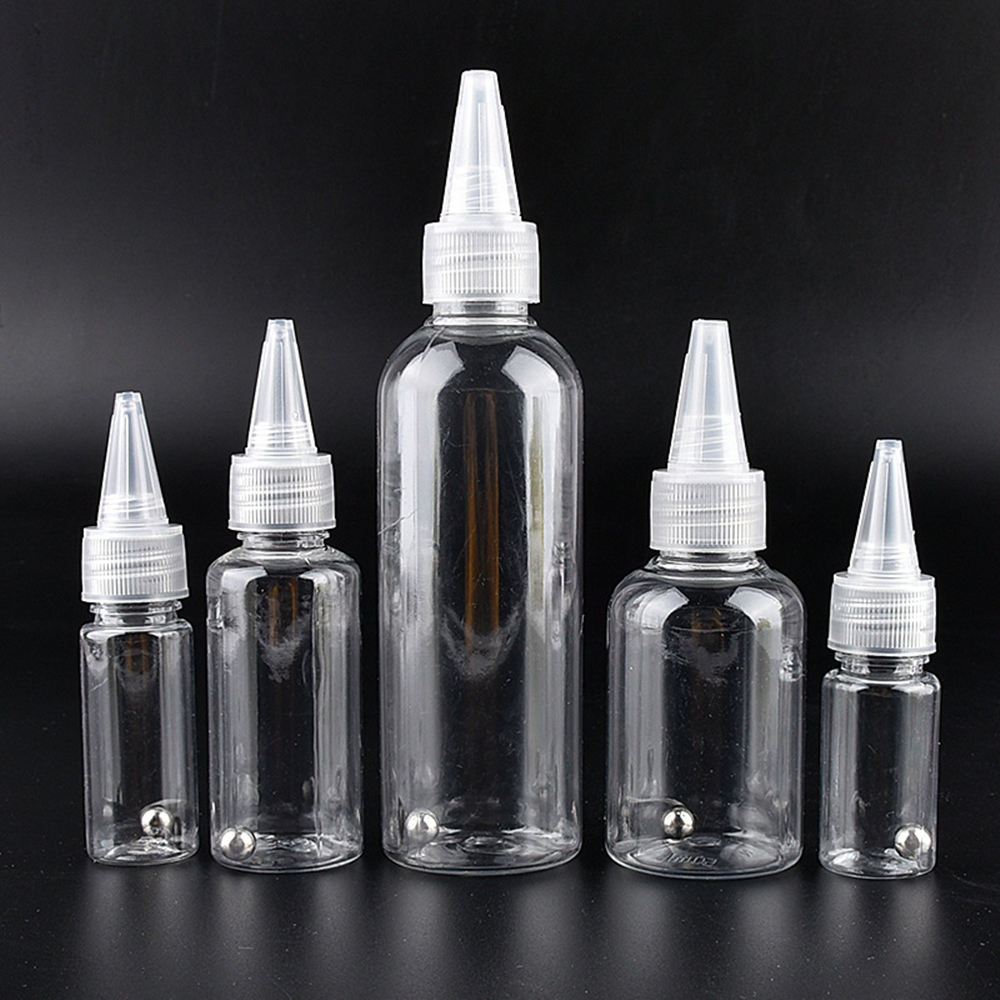 With Scaled Tip Bottle Dispensing Bottle Tracel Refillable Bottles Woemn's Mkeup Bottles  Cosmetic Liquid Bottles 30/50/100ML