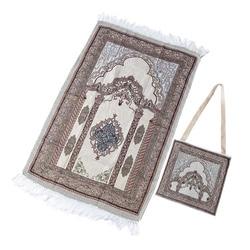Tapis de prière musulman fil de coton tapis de prière tapis de prière musulman léger pour salon chambre Hall (sans/avec sac)