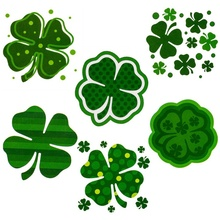 72pcs Irish Festival Face Stickers St. Patrick's Day Shamrock Tattoo Stickers Party Celebration