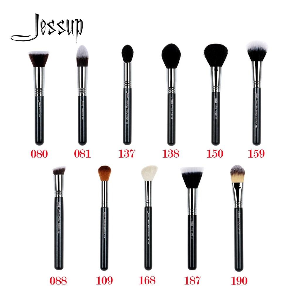 Jessup Beauty 1pcs Single Cosmetic Makeup Brush Dropshipping Fiber Hair Powder Foundation Contour Highlighter Face Brush