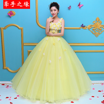 Vestidos 15 anos Yellow 2019 Ball Gown Quinceanera Dresses V Neck Debutante Sweet 15 Years Prom Gowns Custom made