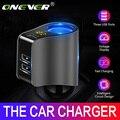 Onever 자동차 담배 라이터 소켓 분배기 충전기 3.1A 듀얼 USB 차량용 충전기 전원 어댑터 아이폰 삼성 GPS 용|파워 어뎁터|자동차 및 오토바이 -