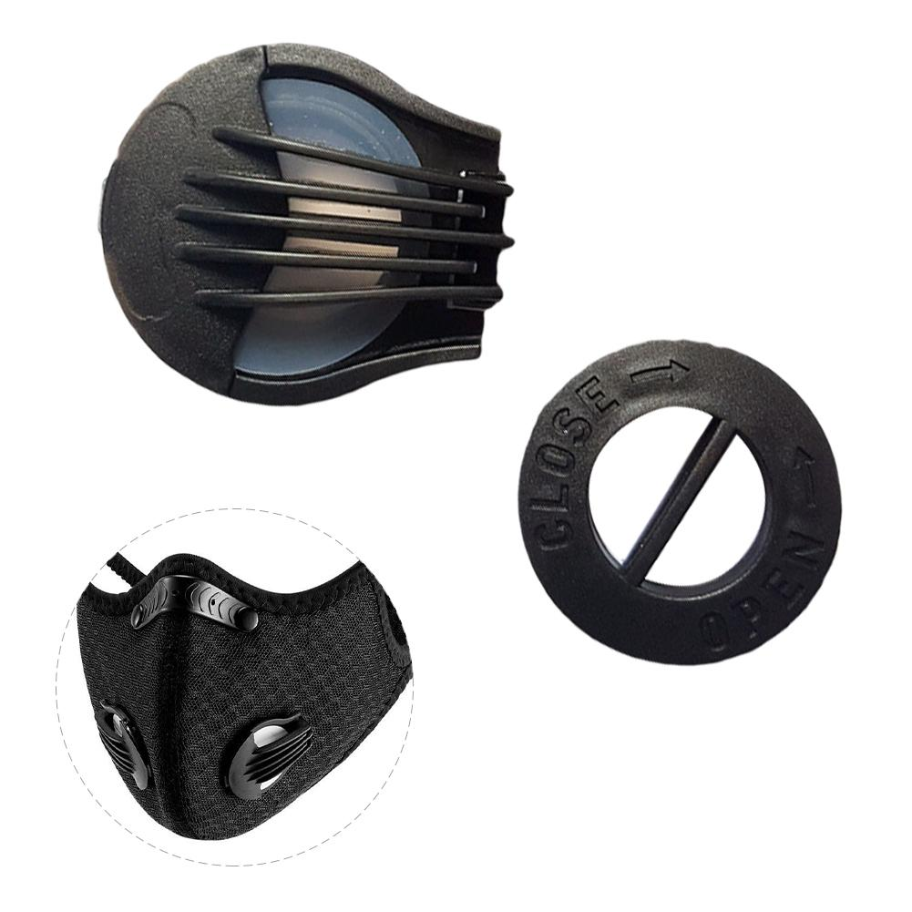 1 Pair ABS Outdoor Durable Anti-dust Face Mouth Mask Filter Replacement Anti Haze Air Breathing Valves Accessories