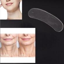 2pcs Transparent Neck Pad Silicone Neck Pads Wrinkle Treatme