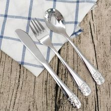 Fork Dinnerware-Sets Cutlery-Set Tableware Spoon Dining Stainless-Steel Lunch-Appliance