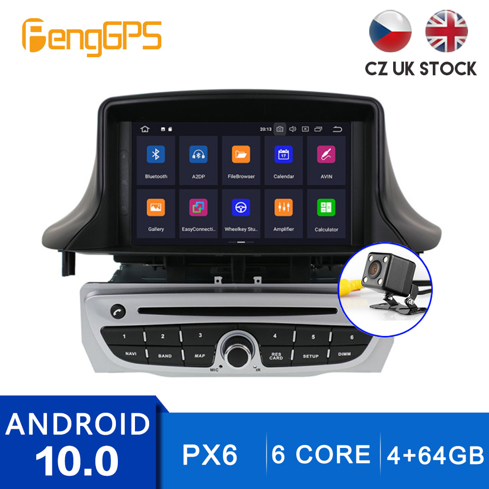 Android 10.0 Car Radio for Renault <font><b>Megane</b></font> <font><b>3</b></font> Fluence 2009-2015 Multimedia Player <font><b>GPS</b></font> Navigation Touchscreen Stereo Mirror Link image
