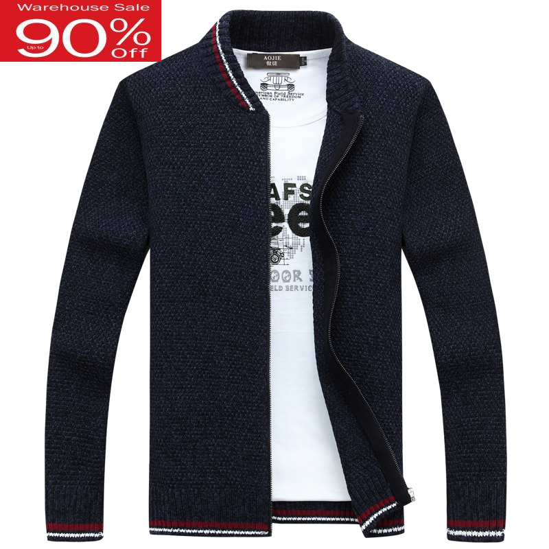 Men Sweater Cardigan Zipper Korean Style 2020 Autumn And Winter Male Loose Long-sleeve Thin Solid Color Knitted Outerwear M41