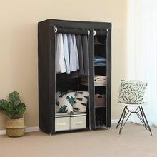 Non-woven Folding Cloth Wardrobe Bedroom Clothing Storage Cabinet Dust-proof Closet Storage Closet Organizer Home Furniture HWC