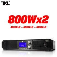 AMPLIFICADOR DE POTENCIA profesional, 2 canales x 800 vatios, 8 ohmios, sistema de sonido, DJ, audio para escenario, hogar, HIFI