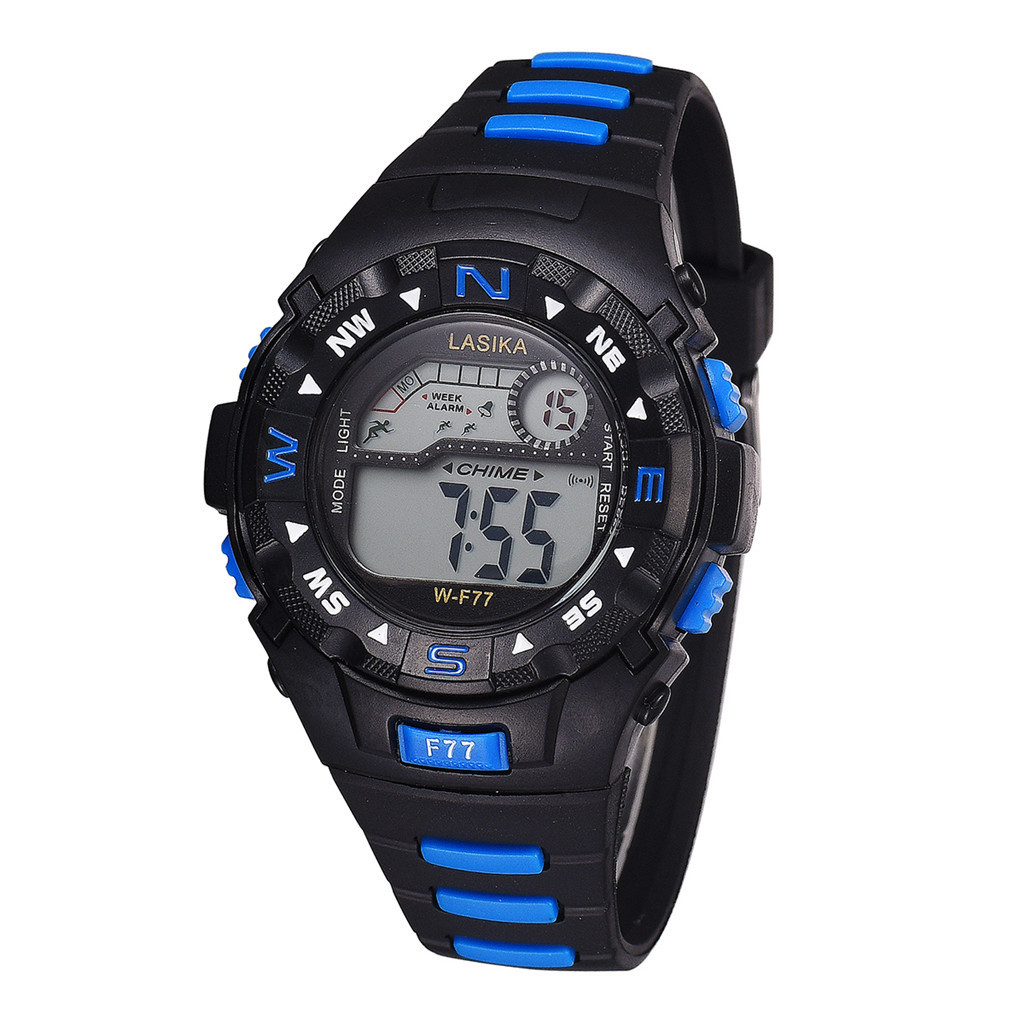 DUOBLA Childrens Watches For Boys New Children Waterproof Sports Black Electronic Children's Multi-Function Watches Watch Kids