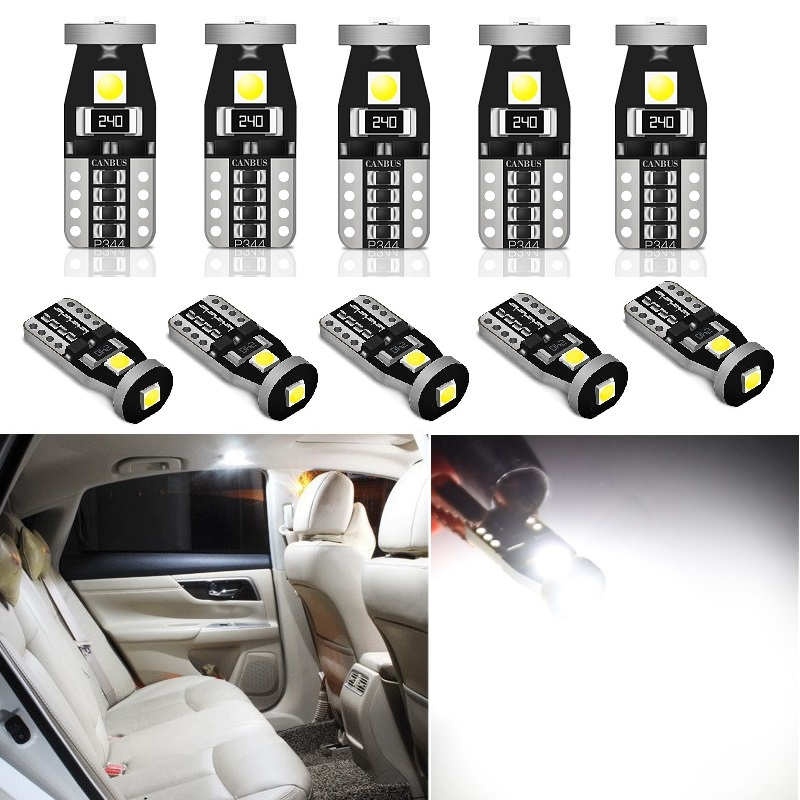 10X W5W T10 LED Bulb <font><b>For</b></font> <font><b>Peugeot</b></font> 308 307 206 <font><b>407</b></font> 3008 207 2008 508 208 406 5008 SUV 4008 <font><b>Accessories</b></font> Car <font><b>Interior</b></font> Reading Light image