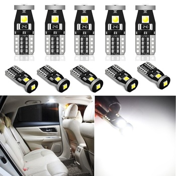 10x W5W T10 LED Canbus Light Bulbs for BMW E46 E39 E90 E60 E36 F30 F10 E30 E34 X5 E53 M Car Interior Light Trunk Parking Lights image
