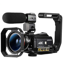 Ordro AC3 4K видеокамера WiFi видеокамера(1080P 60FPS, 30X цифровой зум, 3,1 дюймовый ips сенсорный экран, инфракрасное ночное видение)-черный