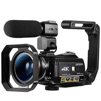 Videocámara Digital 4K Ordro AC3 24FPS 30X Zoom visión nocturna videocámara Filmadora Vlog Cámara