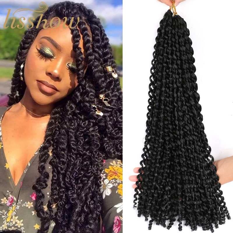 Soft Passion Twist Hair 18inch Pre Looped Crochet Braids Synthetic Braiding Hair Extension image
