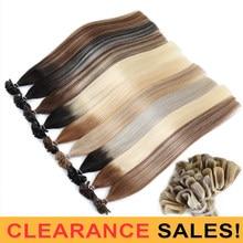 MRSHAIR Ombre Fusion Extensions de cheveux droite Remy ongles cheveux kératine pré-collé cheveux humains 1 g/pc 14
