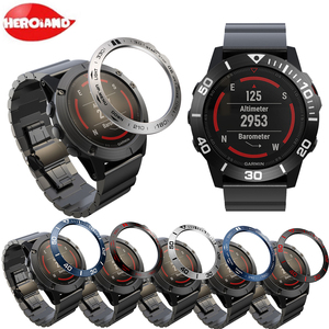 Metal Cover Frame For Garmin Fenix 5/5X/3 Smart Watch Dial Bezel Ring Styling Case Adhesive Cover Anti Scratch Protection Ring(China)