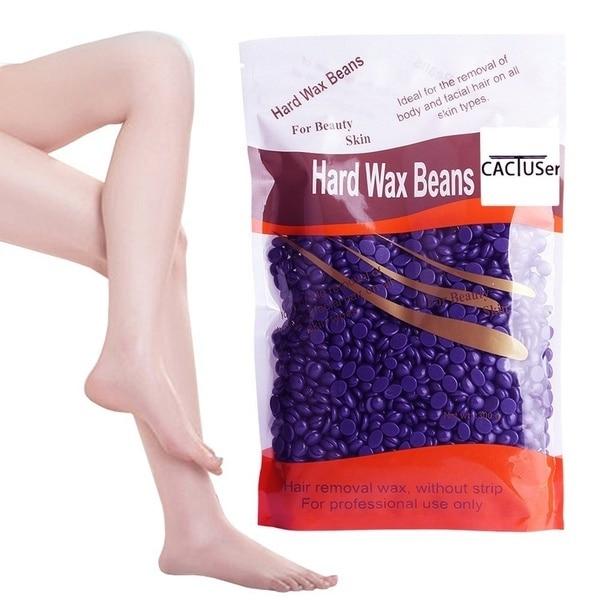 Hot 50g Wax beans No Strip Depilatory Hot Film Hard Wax Pellet Waxing Bikini Face Hair Removal Bean cera For Women Men 2