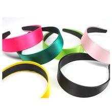 Hair Accessories Shiny Solid Color Women Hairband Simple 4cm Wide Europe Lady Hoop Hot-Sale Headband Headwear