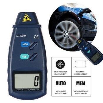 цена на Tachometer Digital Laser Photo Tachometer Non Contact RPM Tach Digital Laser Tachometer Speedometer Speed Gauge Engine Dropship