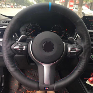 CARDAK Artificial leather Blue Marker Steering Wheel Cover for BMW F87 M2 F80 M3 F82 M4 M5 F12 F13 M6 F85 X5 X6 F33 F30 M Sport(China)
