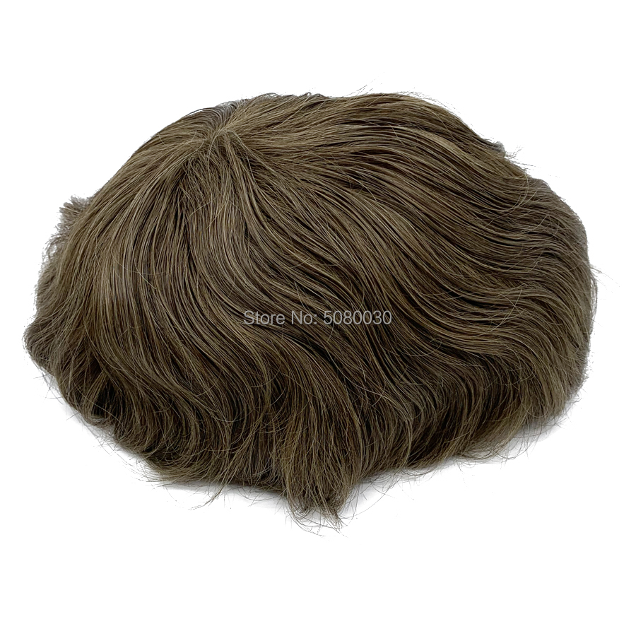 New Arrived Mens Hair Wig Toupee Piece Styling Products, Hair Men Toupee Human Hair Wig, Lace Front Hair Replacement Men Wig