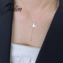 Ювелирные изделия joolim оптом белое ожерелье в виде бабочки