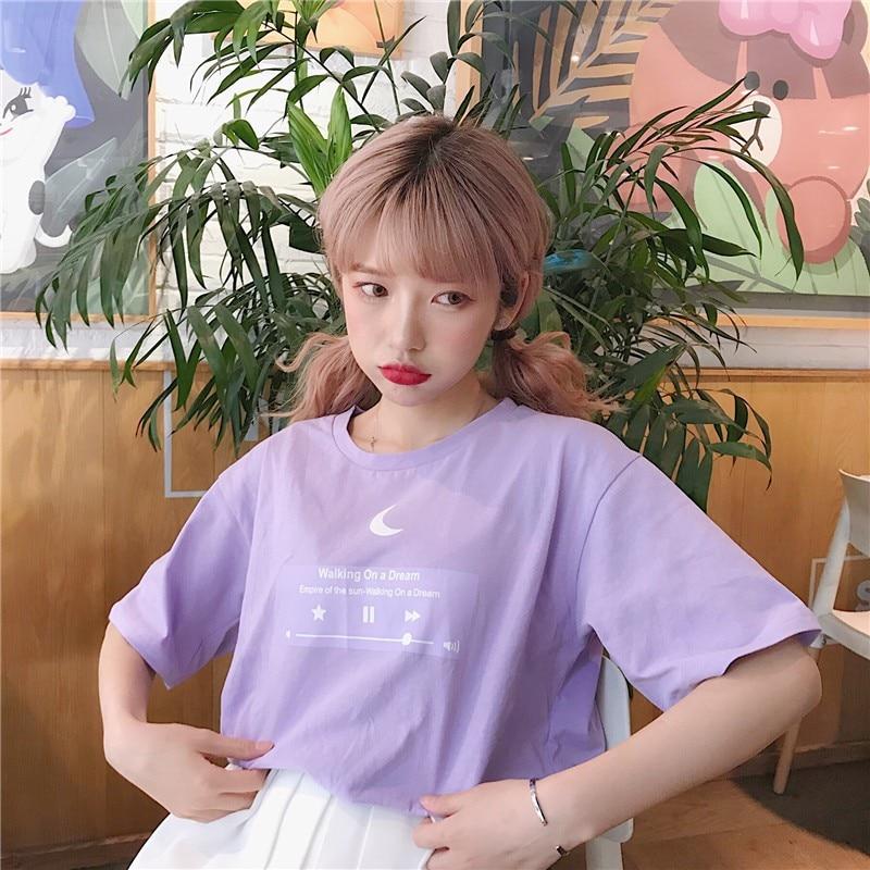 Harajuku корейские топы, футболки, обычная музыка, милый альбом, рубашка с принтом, альбом, дропшиппинг, одежда ins, винтажная, панк, Ulzzang, женская футболка|Футболки|   | АлиЭкспресс