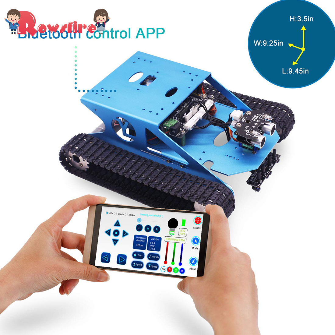 Programmable Smart Tank Mobile Platform Chassis Robot Electronic Project Learning With C Language Graphical  Super Climbing