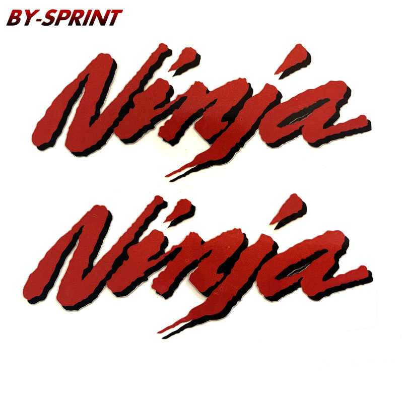 2 X Ninja naklejki motocykl zbiornik paliwa koła Fairing opon kask naklejki naklejki dla KAWASAKI NINJA Ninja650 400 Ninja300 250