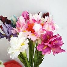 Искусственный цветок ирис ветка весеннее свадебное украшение домашний стол украшение Флорес Шелковый Искусственный цветок вечерние прина...