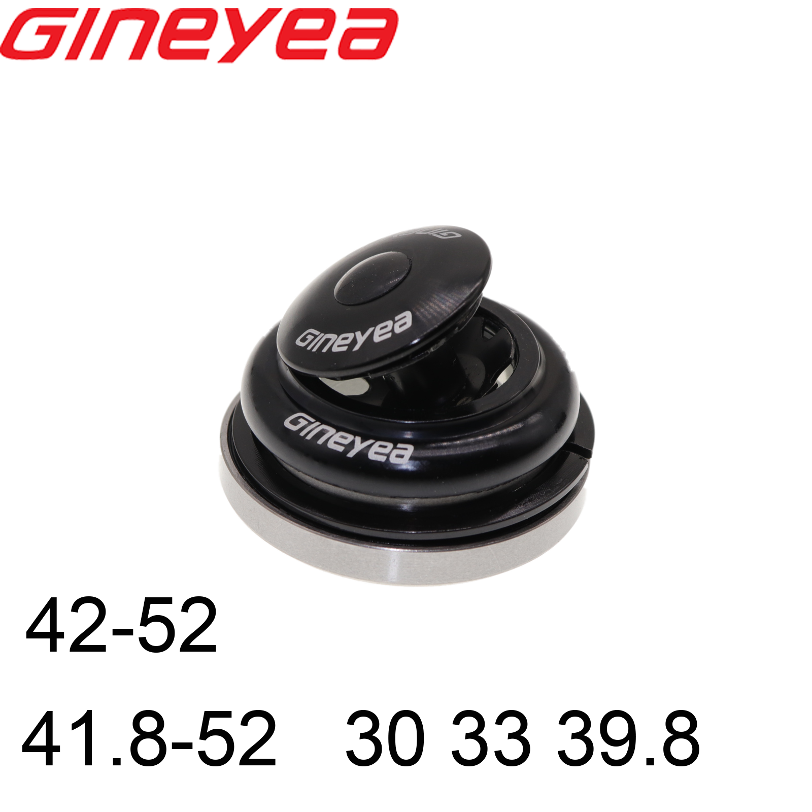 Gineyea bearing headset 41.8 42 <font><b>52</b></font> 46.9 47 <font><b>30</b></font> 33 39.8 mm straight fork tapered bike MTB road carbon tube image