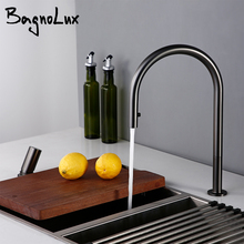 Kitchen-Sink-Faucet Single-Handle Black Brushed Mounted Cold-Sprayer Gunmetal Pull-Down-Brass
