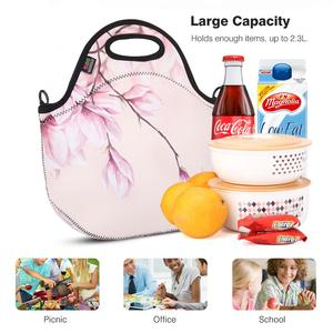 Image 2 - Insulated Lunch Bag, MOKO Neoprene Lunch Tote Reusable Picnic Bag Soft Thermal Cooler Tote Multi purpose Grocery Container