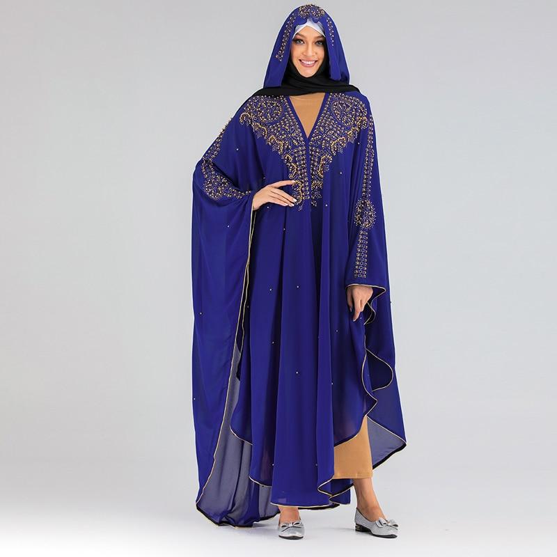 Sequin Bolero Shrug Djelaba Femme Women Shrugs Niqab Abaya Kimono Long Muslim Cardigan Islamic Tunic Dubai Turkey Musulman Coat