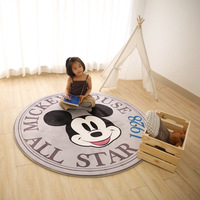 Disney Grey Mickey Mouse Rug Children Kids Crawling Mat Bedroom Decor Round Carpet Indoor Memory Cotton Slow Rebound Mat gift